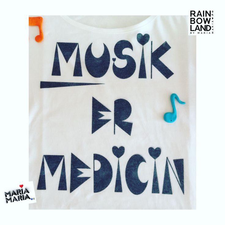 #rainbowland #tshirt buy it at WWW.RAINBOWLAND.DK #musik #music is #medicinr
