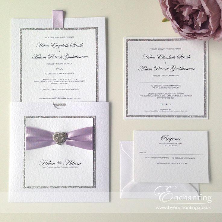 Sparkly Lilac Wedding Invitations