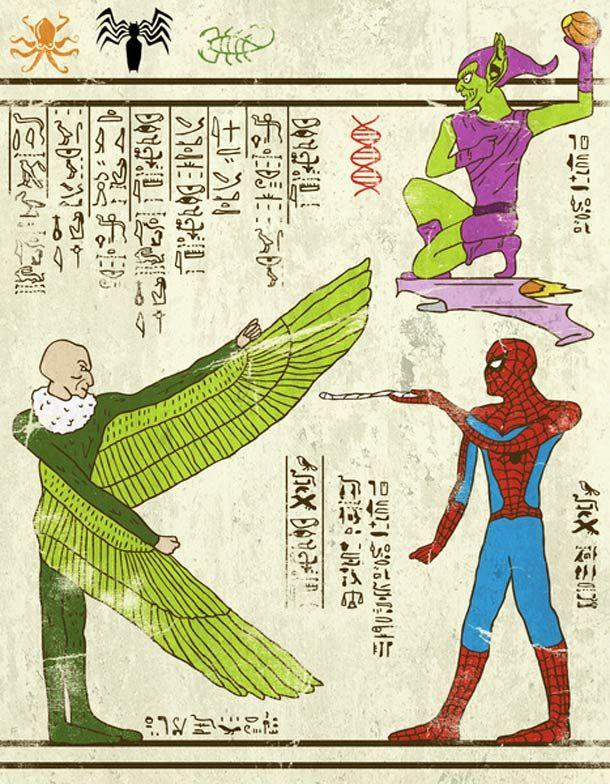 Hero-Glyphics – Les super-héros version Egypte ancienne