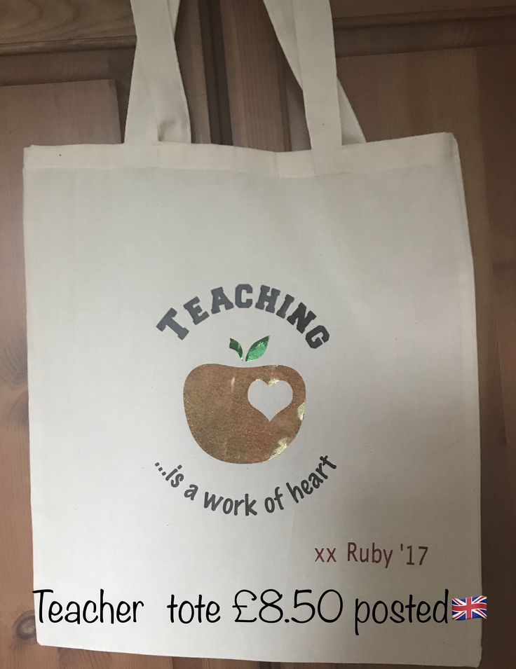 Teacher totes- a gift for end of term go to itslovely.co.uk to message your order  July '17