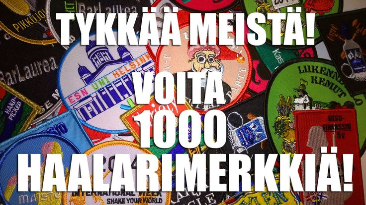 Facebook Arvonta!  Laita kavereille sana kiertämään: nyt on mahdollisuus voittaa oma suunnittelemia haalarimerkkejä kun käy tykkäilemässä Promlerin FB sivusta. 500 ja 750 tykkääjän kohdalla arvotaan lisäksi 100 haalarimerkkiä, mutta kun 1000 tykkääjää pamahtaa täyteen niin 1000 haalarimerkkiä lähtee voittajalle!