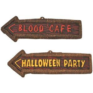 Halloween skilte | Blodigt skilt som pynt til gyser fest | Blodig fest