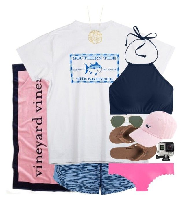 """day 3 // snorkel"" by thefashionbyem ❤ liked on Polyvore featuring Vineyard Vines, NIKE, Southern Tide, J.Crew, Rainbow, GoPro, Ray-Ban, Ginette NY and lydscruise2016"