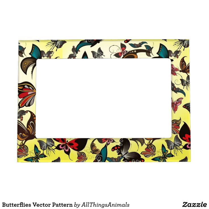 Butterflies Vector Pattern Magnetic Picture Frame