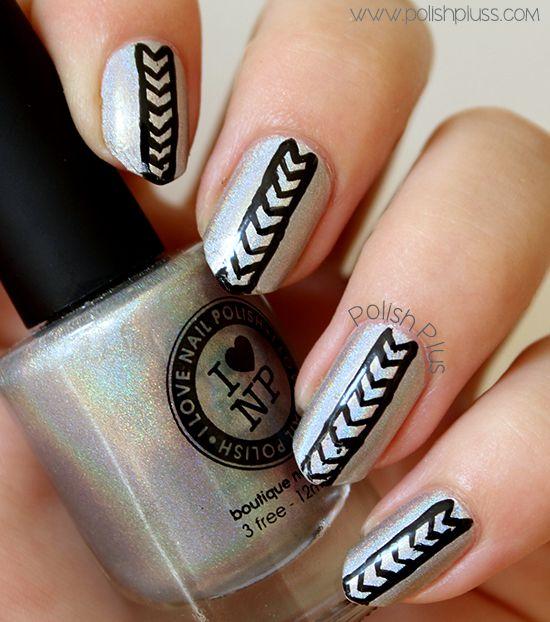 Holo Geometric Nail Art | Polish Plus #nails #nailart #ilnp