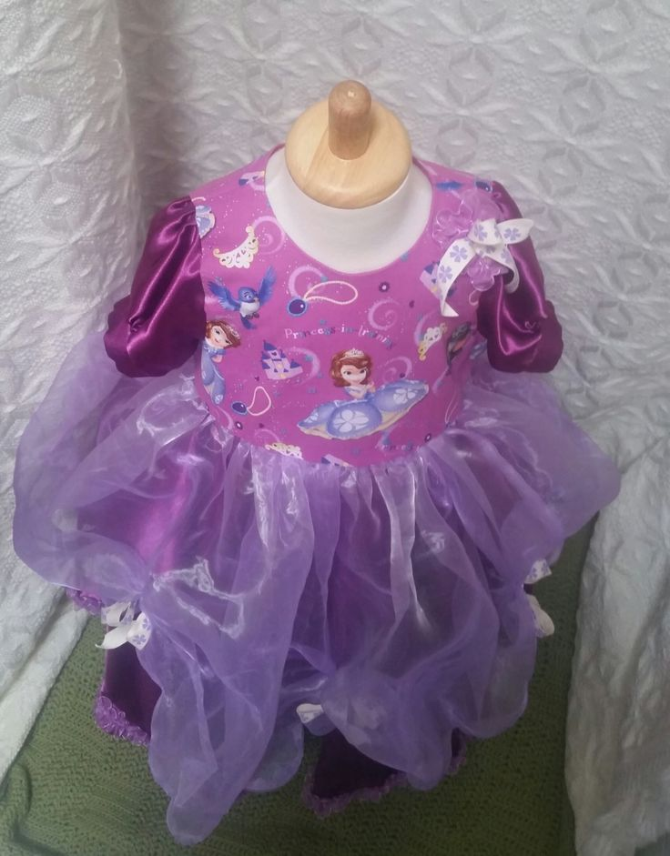 Princess Sofia, Disney Princess, ball gown, hand-sewn, size 5, purple organza, one-of-a-kind, princess dress-ups, Sofia The First, birthday by LittleLarkClothing on Etsy