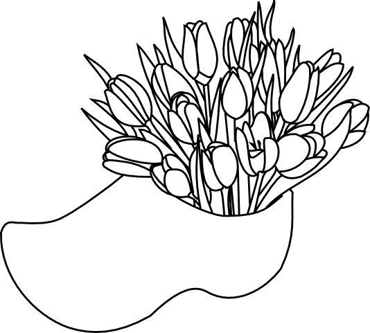 Dutch Tulips in Wooden Shoe....free digital download