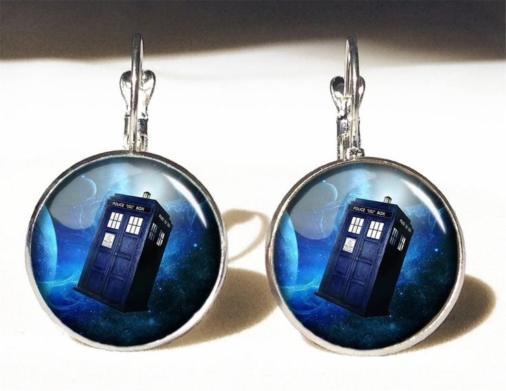 DR. WHO - TARDIS Big Earrings, 0338ERS from EgginEgg by DaWanda.com