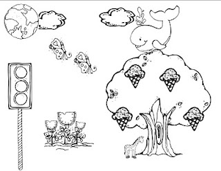 Wacky Wednesday inspired coloring sheet