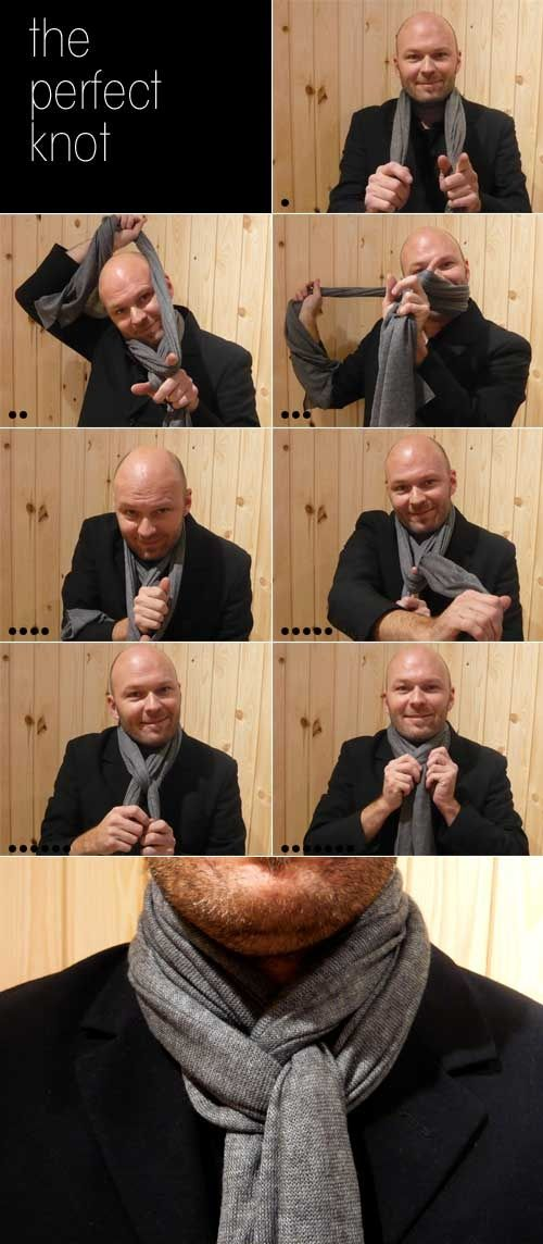 How to tie the perfect scarf knot @ DIY Home Ideas
