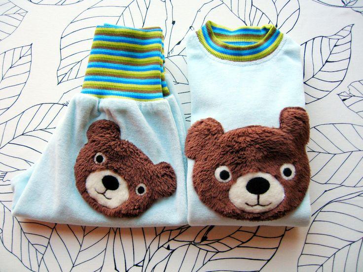 Tričko s dlouhým rukávem / mikina s medvídkem