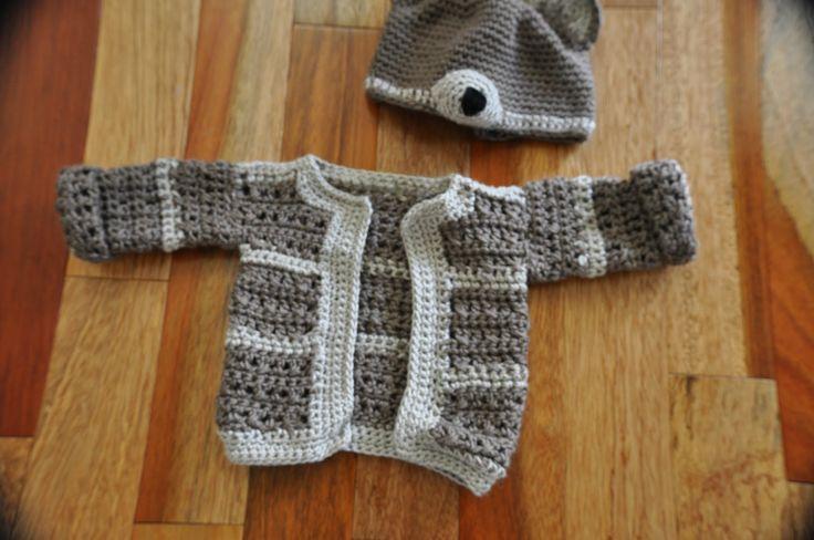 Crochet Pattern Beginner Baby Sweater Labels Baby Beanie ...