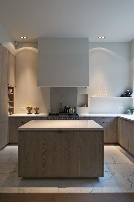 Kitchen - marble. Designed by belgian AIB Architecten.