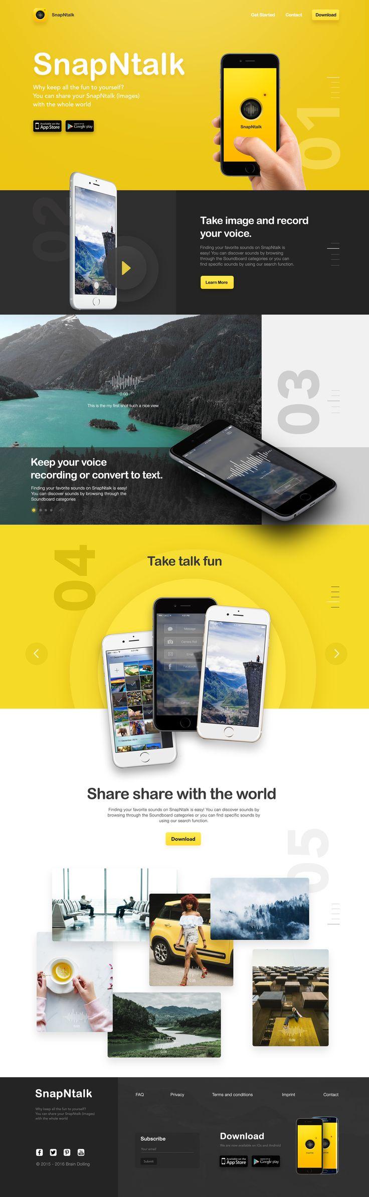 web design camera web design app  ui ux Dribbble shot yellow photo