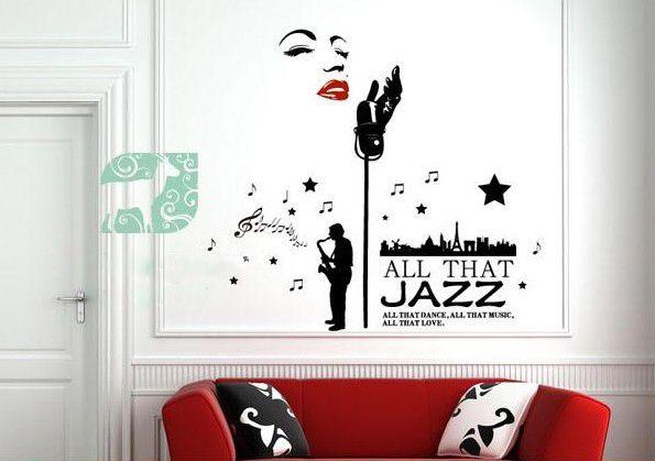 90 60cm Classic Marilyn Monroe Jazz Singer Wall Decor