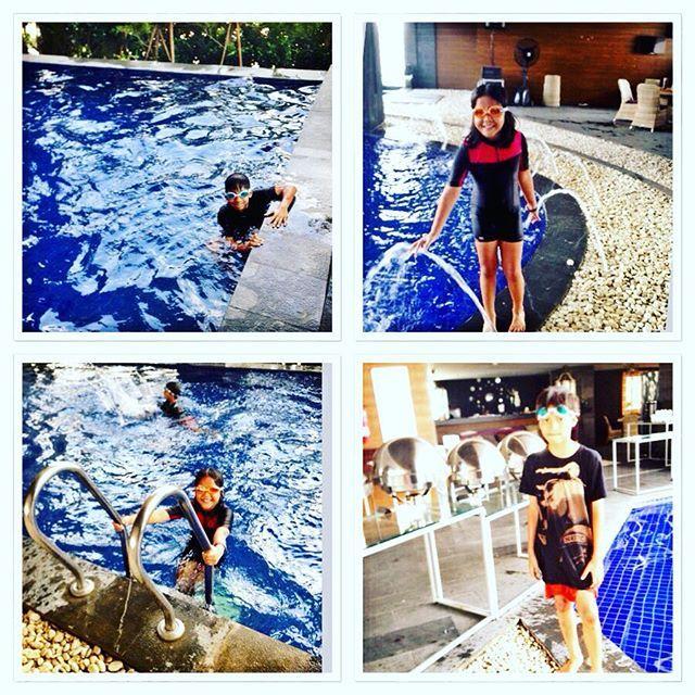 Swimming again , gak bosen bosen sih nak  #holidayseason#offtoschool#swimmingpool#swimmingtime#amaroossagrande#happyholiday#instagram_kids#letsswim#mydaughter#myson