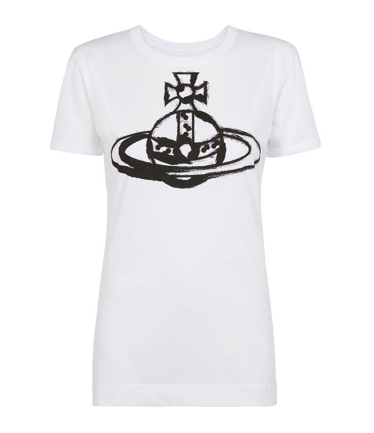 VIVIENNE WESTWOOD Brushstroke Orb Classic T-Shirt. #viviennewestwood #cloth #