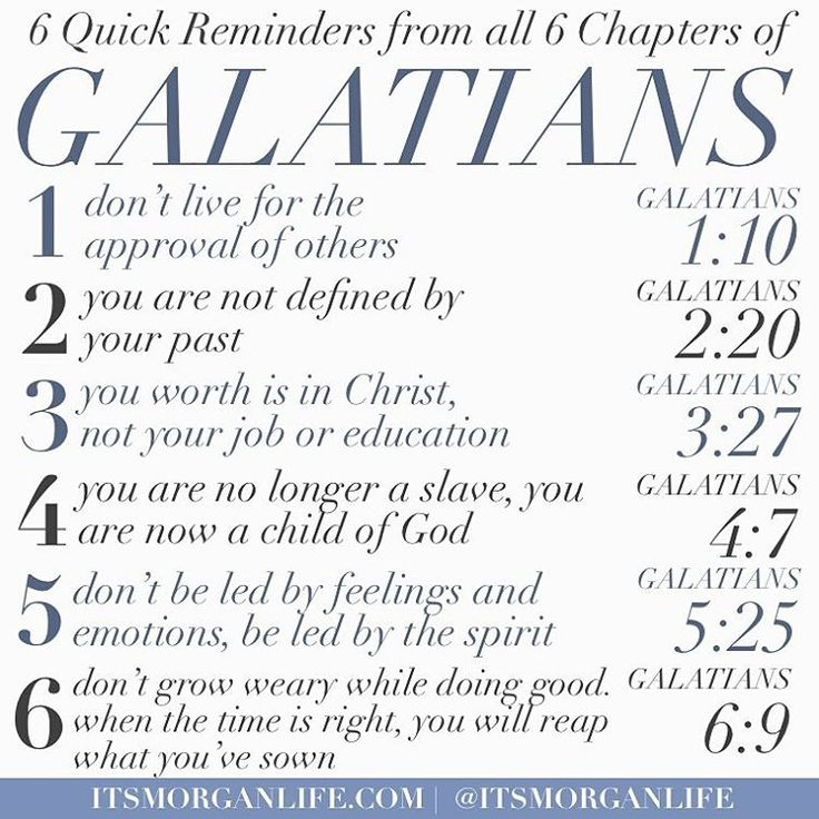 The book of Galatians is one of my favorite books of the bible. It is very clear…