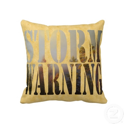 Storm Warning by Greta Thorsdottir - Pillow from Zazzle