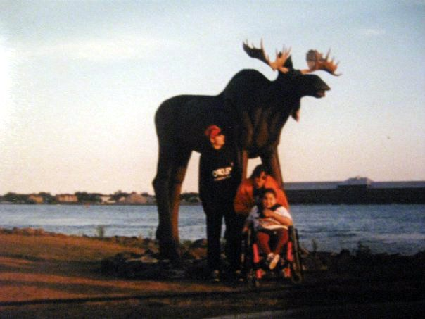 Wooden Moose Sault Ste Marie Ontario Canada Someone destroyed it and it is no longer there.