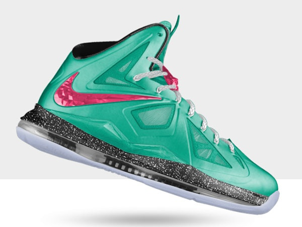 Lebron shoes 2013 Lebron 10 id nikeid Neon Green