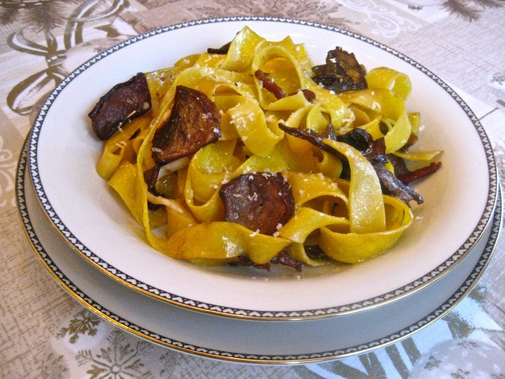 9th Day of Christmas – Pappardelle ai Porcini   Kitchen Paradiso
