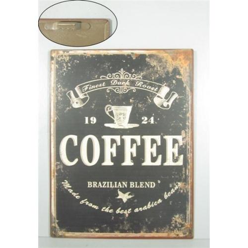Metallikyltti musta coffee