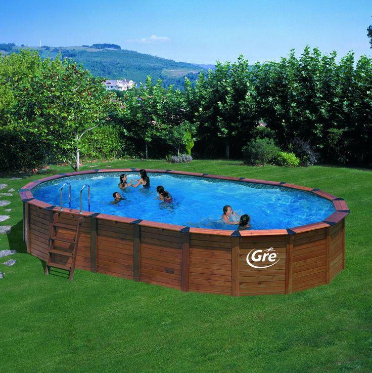 17 meilleures id es propos de piscine hors sol acier sur for Piscine hors sol acier ovale