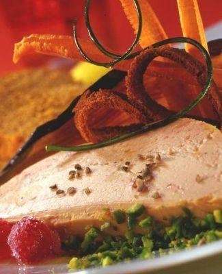 Foie Gras en croûte de pistaches vertes