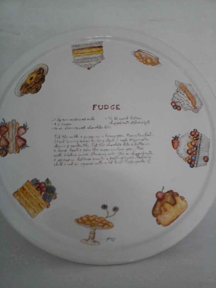 Platos de porcelana pintados a mano