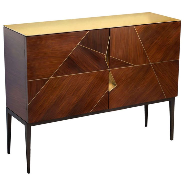"""Giò"" Royal Oak Marquetry Cabinet by Achille Salvagni 1"