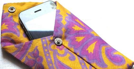 Cover iPhone fai-da-te dal riciclo delle cravatte #diY #upcycle