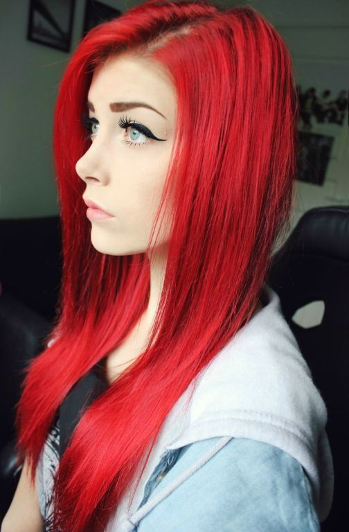 dyed red hair styles 17 best ideas about bright hair on bright 4602 | ee9c03307354ba8eb758cf6efa3d7c85