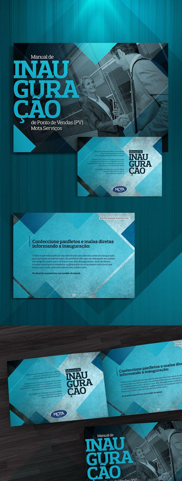 Manual de inauguração de PV by Matheus Trindade, via Behance