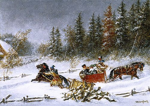 A Winter Incident,c.1860 | Cornelius Krieghoff | Art Gallery of Ontario Toronto Canada