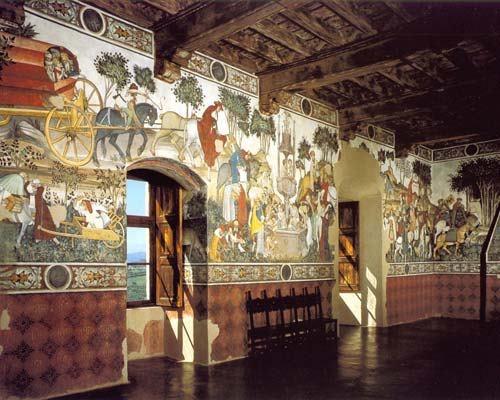 Sala baronale - La fontana della giovinezza - Castello della Manta