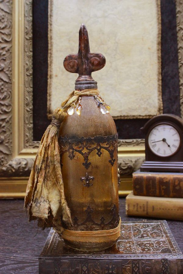 How to Antique Glass: Make a Bohemian Bottle - Gorgeous!! - The Graphics Fairy