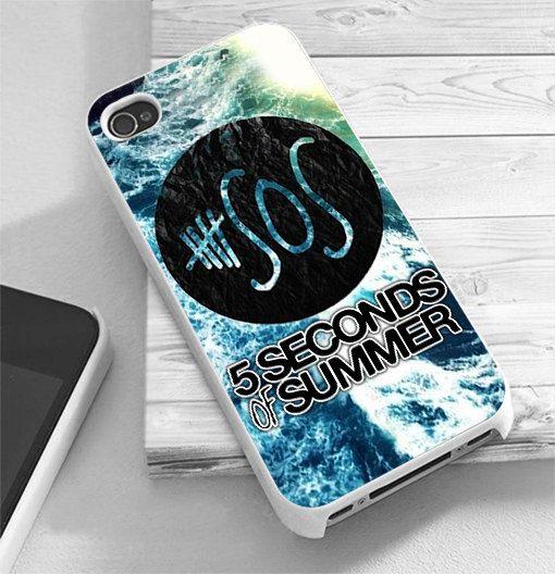 SOS 5 Second of Summer Logo Beach - RiyanTani - Custom Print Hard Case - iPhone 4/4/s/5/5s/5c and Samsung S2 S3 S4