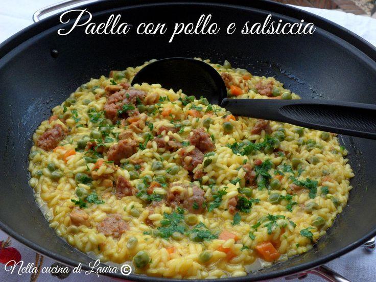 PAELLA POLLO E SALSICCIA