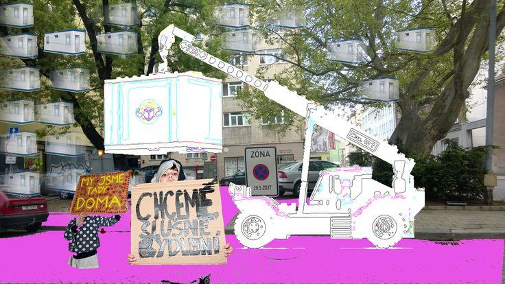 graphic for new project, site specific theatre, Live Brnox