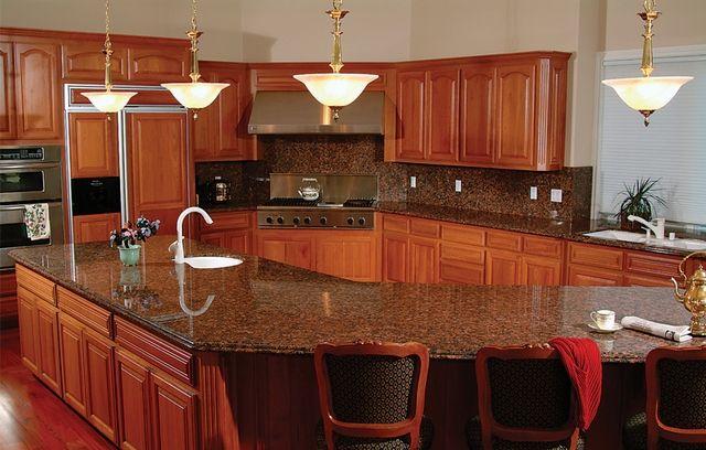 Backsplash For Kitchen Oak Cabinet Riverstone Granite