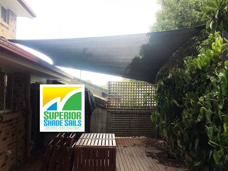 Shade Sail Installation In Norman Park, Brisbane. Shade Sail Over Deck,  Disappearing Into