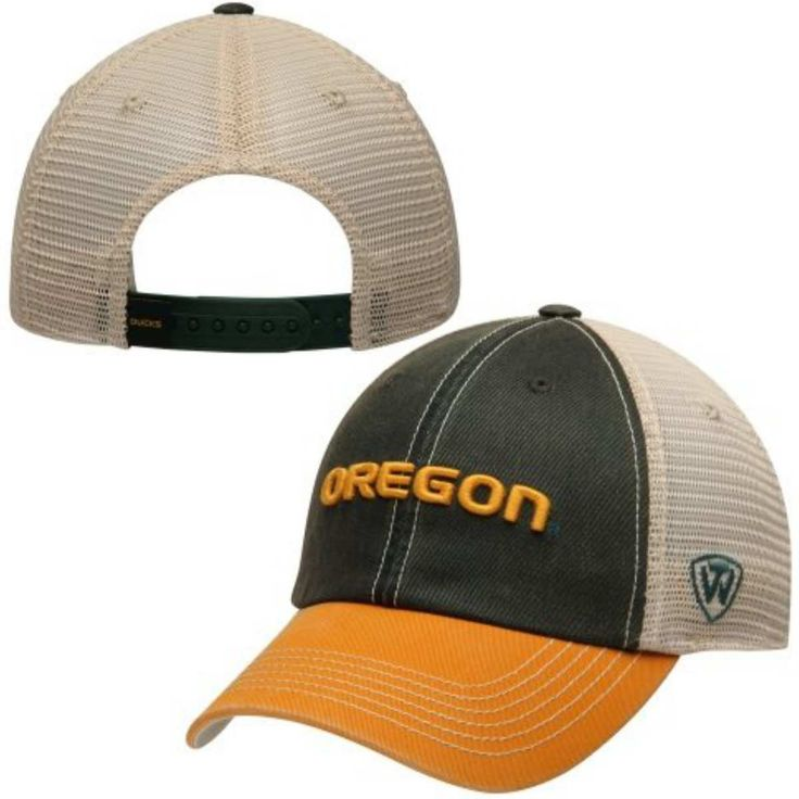 Oregon Ducks Top of the World Green Yellow Offroad Adjustable Snapback Hat Cap