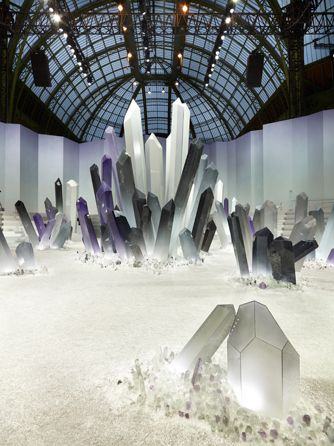 Simple yet different, and balanced.  Opening of Chanel Fall 2012 Grand Palais show by Olivier Sailant