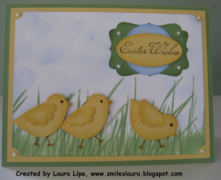 Easter chicks punch art - bjl ...go to the Ann Fitzgerald blog site listed at the end of this blog for tons of ways to use the bird punch!