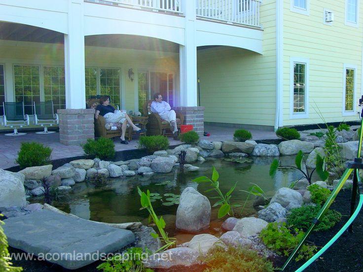 Pittsford ny ecosystem fish pond for Backyard pond installation