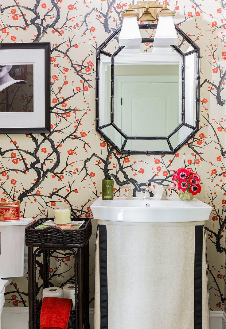 Portfolio - Elements of Style Blog- powder room wallpaper: