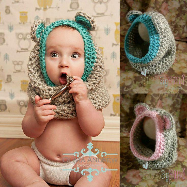 crochet baby hood