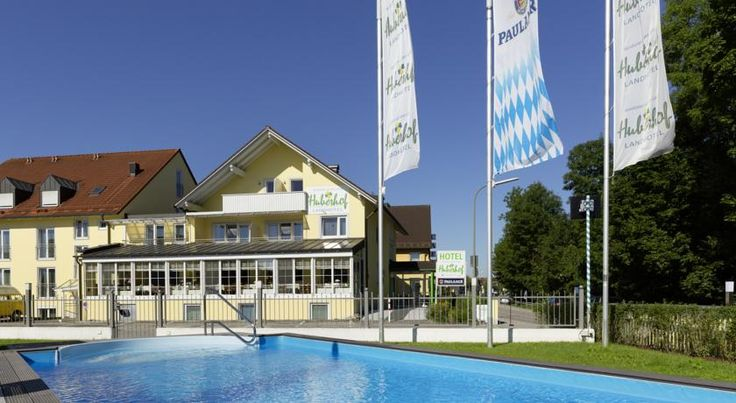 Hotel Huberhof Allershausen This family-run hotel lies directly on the River Glonn in Allershausen, a 20-minute drive from Munich Airport. It features a traditional restaurant, small outdoor swimming pool and free car park.