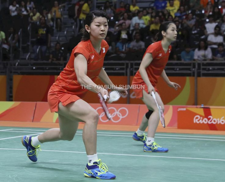 #リオ五輪 #バドミントン #女子ダブルス で、#高橋礼華 選手、#松友美佐紀 選手が準決勝に進出。4強入りです。